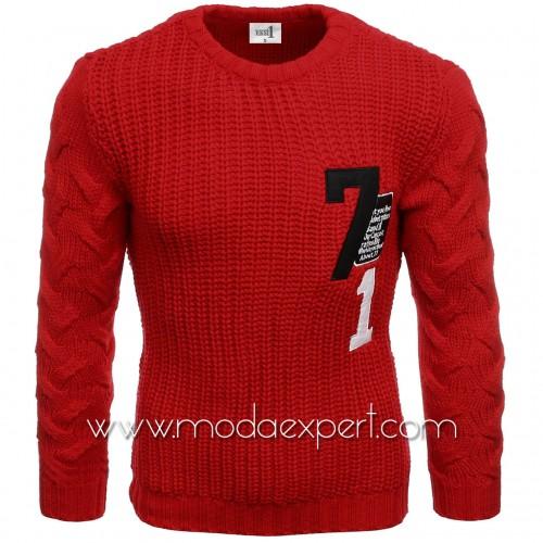 Пуловер с апликации №E3584-R