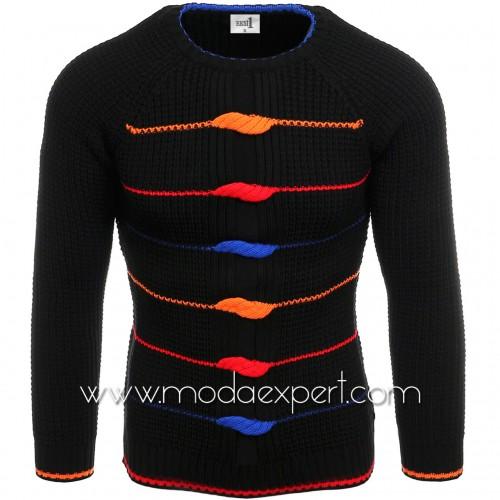Мъжки пуловер с декорации №E3587-B
