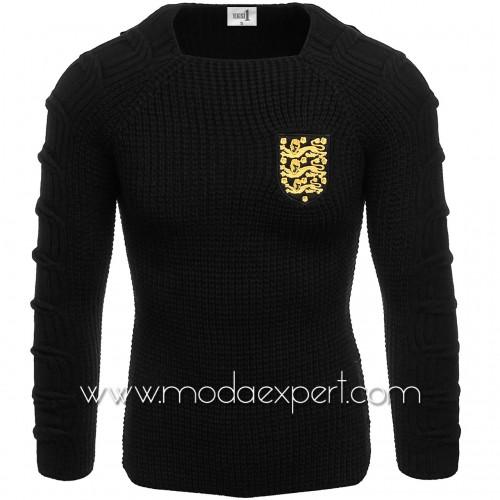 Мъжки пуловер с емблема №E3589-B