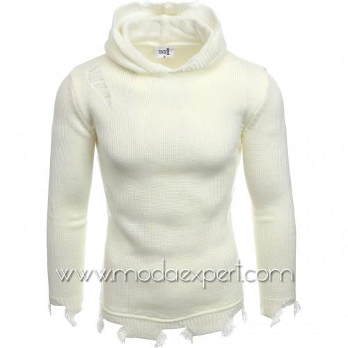 Мъжки пуловер с качулка №E3605-E