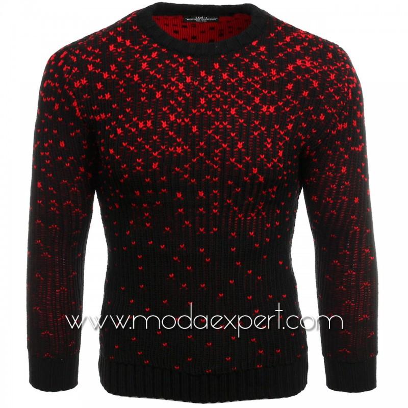 Ефектен мъжки пуловер №E3618-B