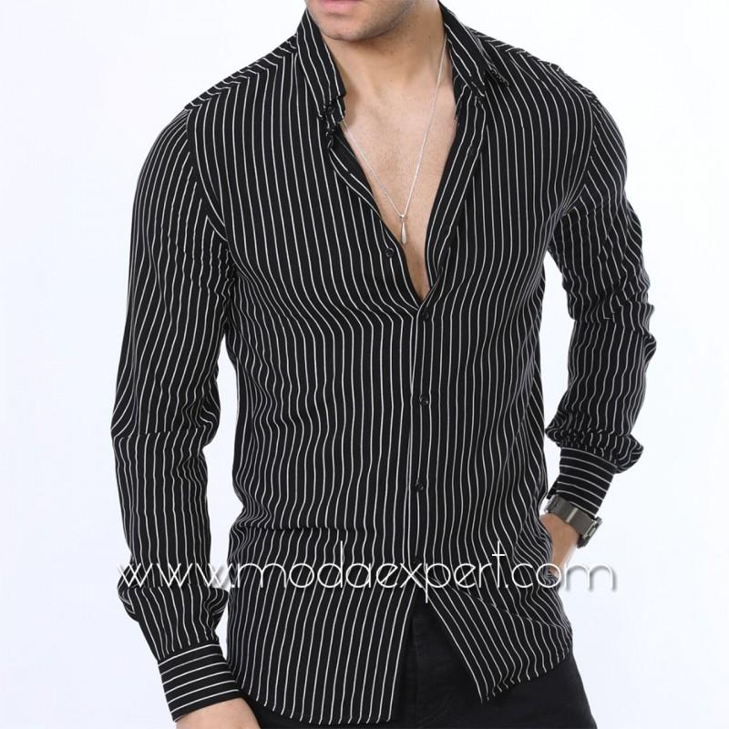 Мъжка риза в райе №MR-640-B