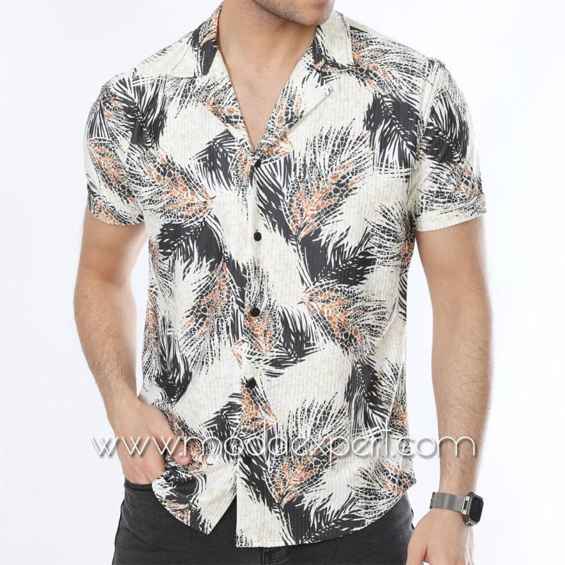 Мъжка риза с къс ръкав №MR-6534