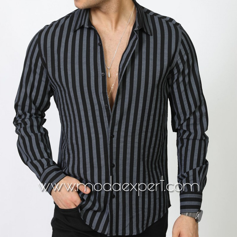 Мъжка риза в райе №MR-6574-B