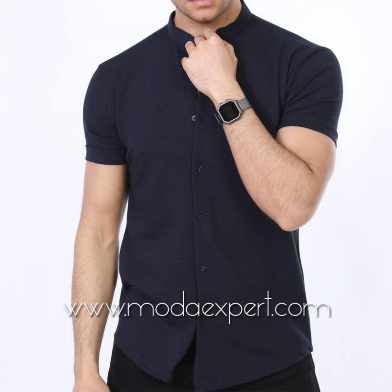 Мъжка риза с къс ръкав №MR-663-S