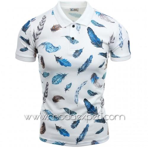 Тениска с яка с пера №14459
