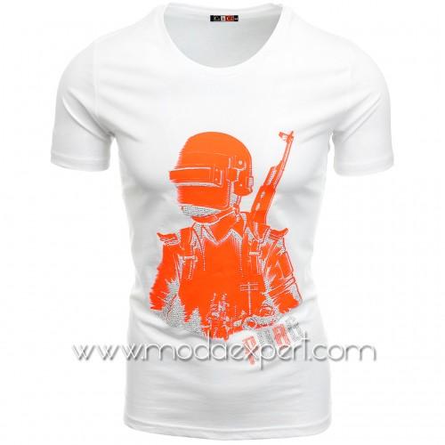 Мъжка тениска с камъни №C7481-W