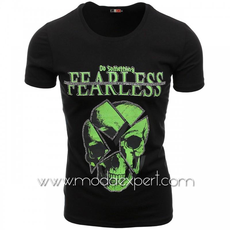 Мъжка тениска с камъни №C7486-B