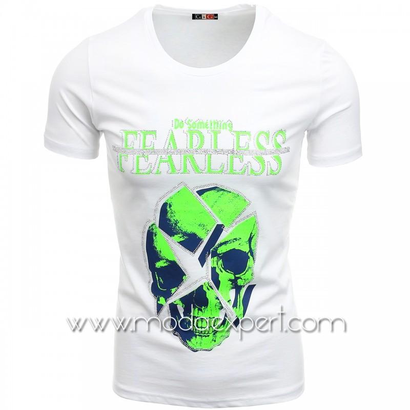 Мъжка тениска с камъни №C7486-W