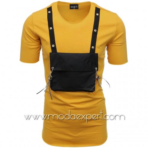 Мъжка тениска с джоб и синджир №E001-M