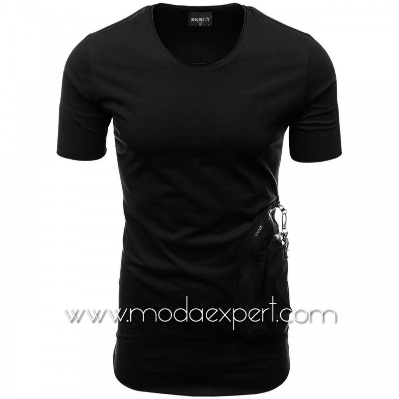 Мъжка тениска с двоен джоб №E002-B
