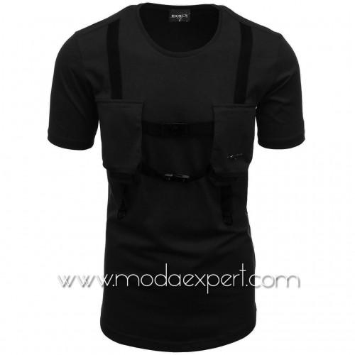 Мъжка тениска с джобове №E004-B