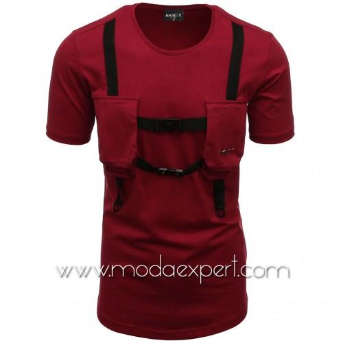 Мъжка тениска с джобове №E004-C