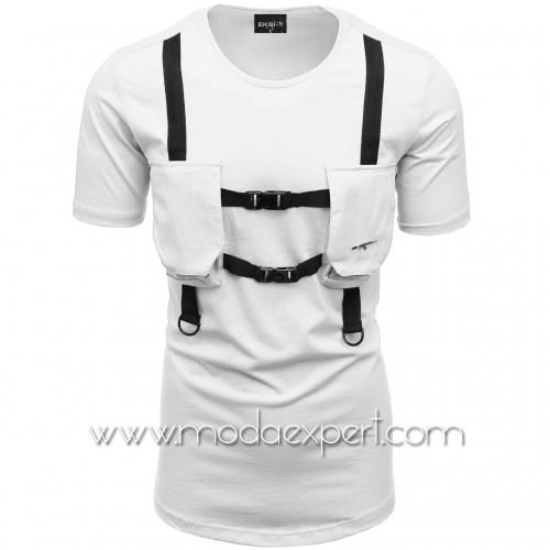 Мъжка тениска с джобове №E004-W