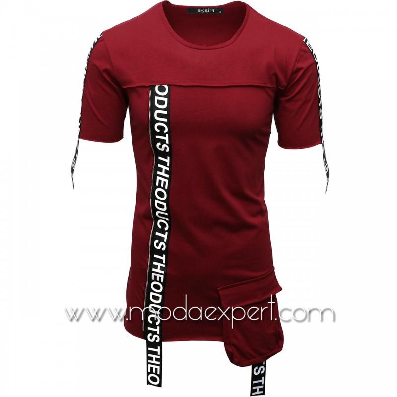 Мъжка тениска с ленти с надписи №E007-C
