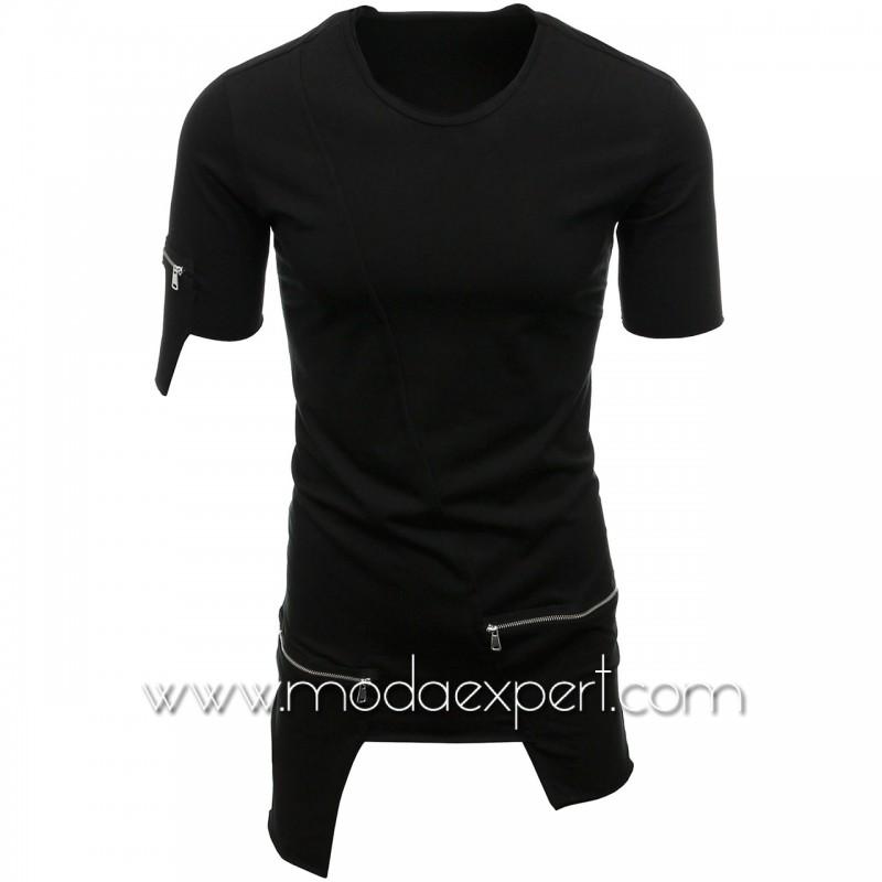 Мъжка тениска с джобове №E008-B