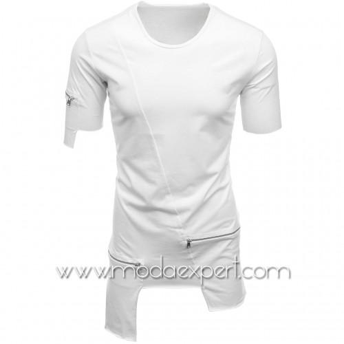 Мъжка тениска с джобове №E008-W