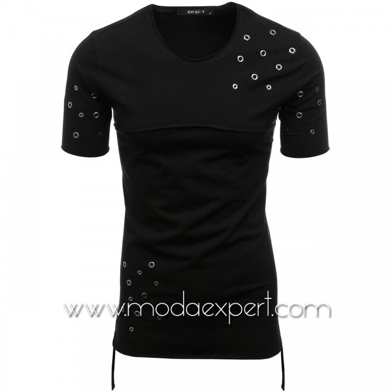 Мъжка тениска с капси №E010-B