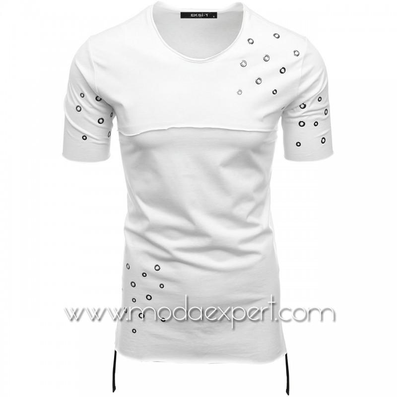 Мъжка тениска с капси №E010-W