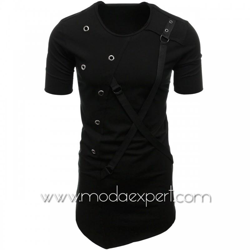 Мъжка тениска с капси №E011-B