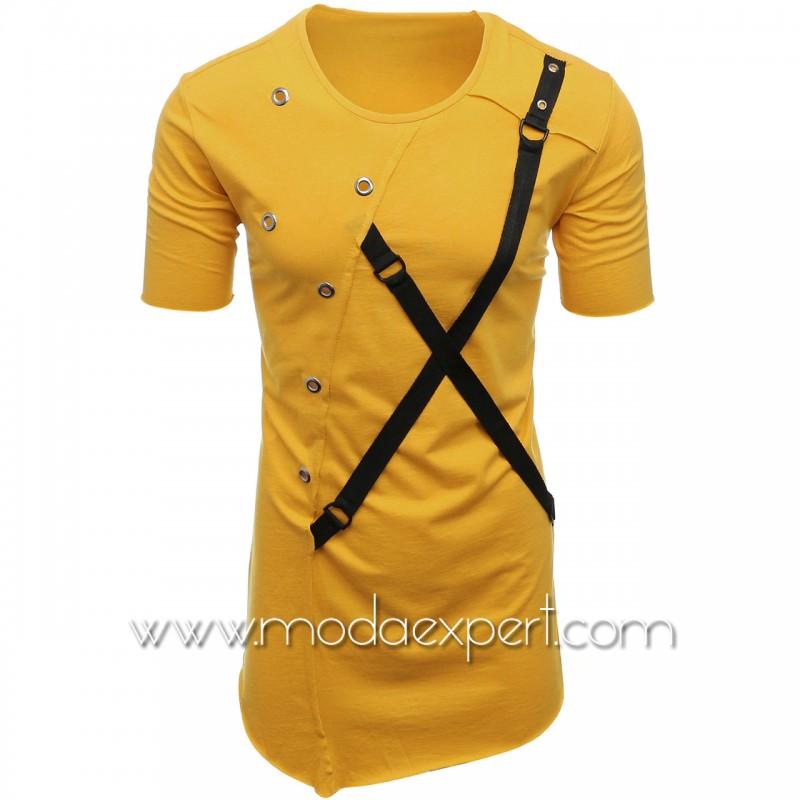 Мъжка тениска с капси №E011-M