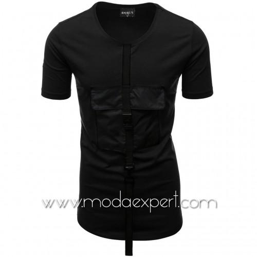 Мъжка тениска с джоб №E015-B