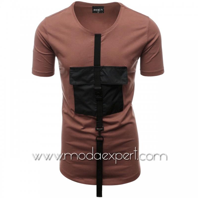 Мъжка тениска с джоб №E015-T