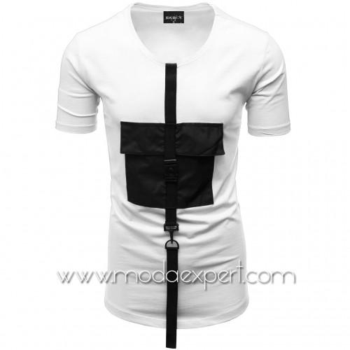 Мъжка тениска с джоб №E015-W
