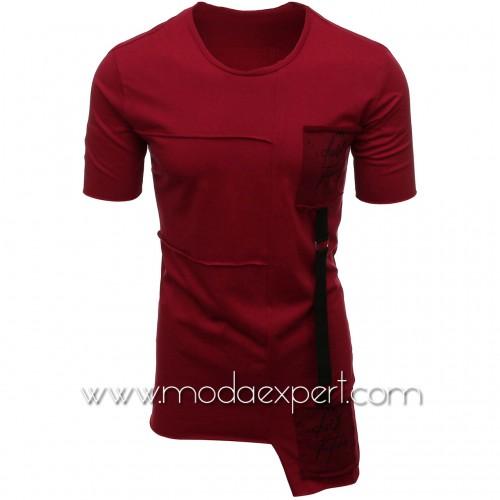 Мъжка тениска с апликации №E021-C