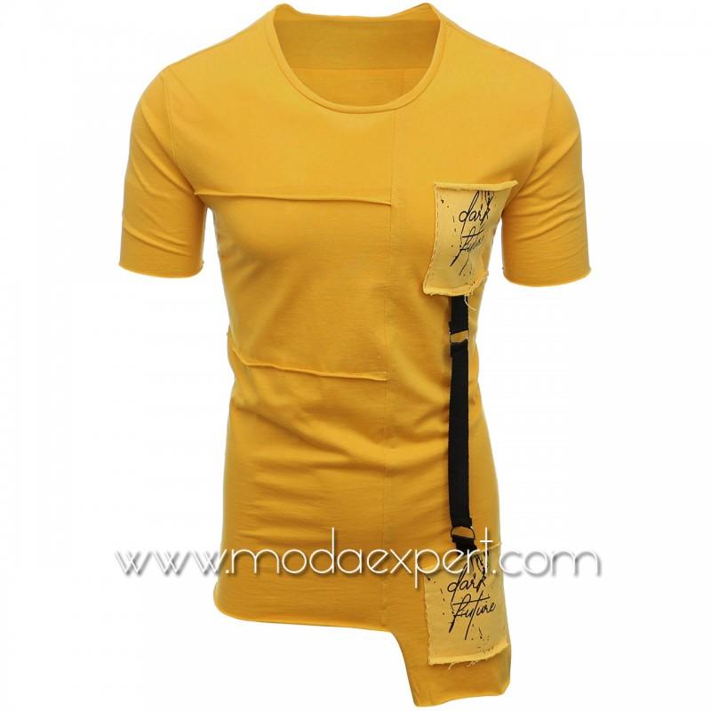 Мъжка тениска с апликации №E021-M