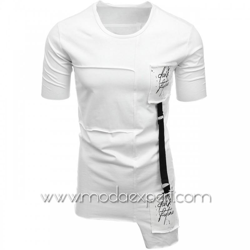 Мъжка тениска с апликации №E021-W