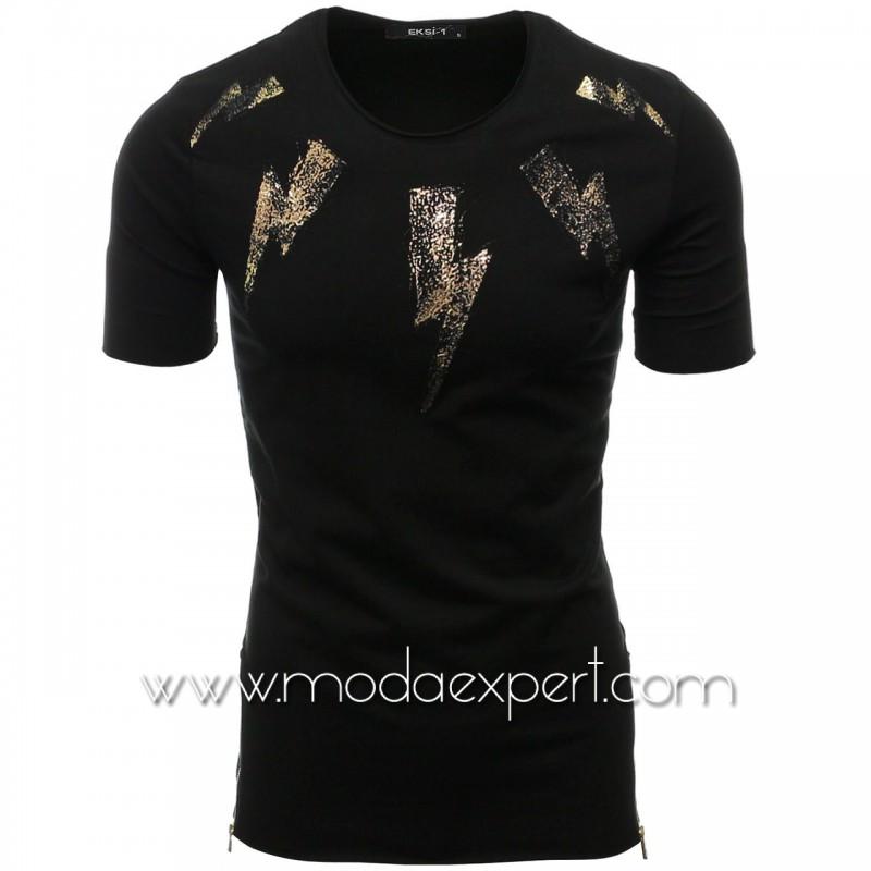 Мъжка тениска с релефна щампа №E022-B