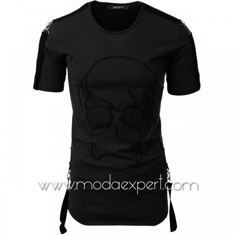 Мъжка тениска с релефна щампа №E033-B