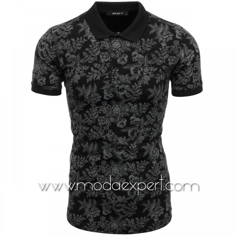 Мъжка тениска с релефна щампа №E052-B