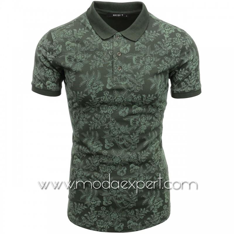 Мъжка тениска с релефна щампа №E052-K