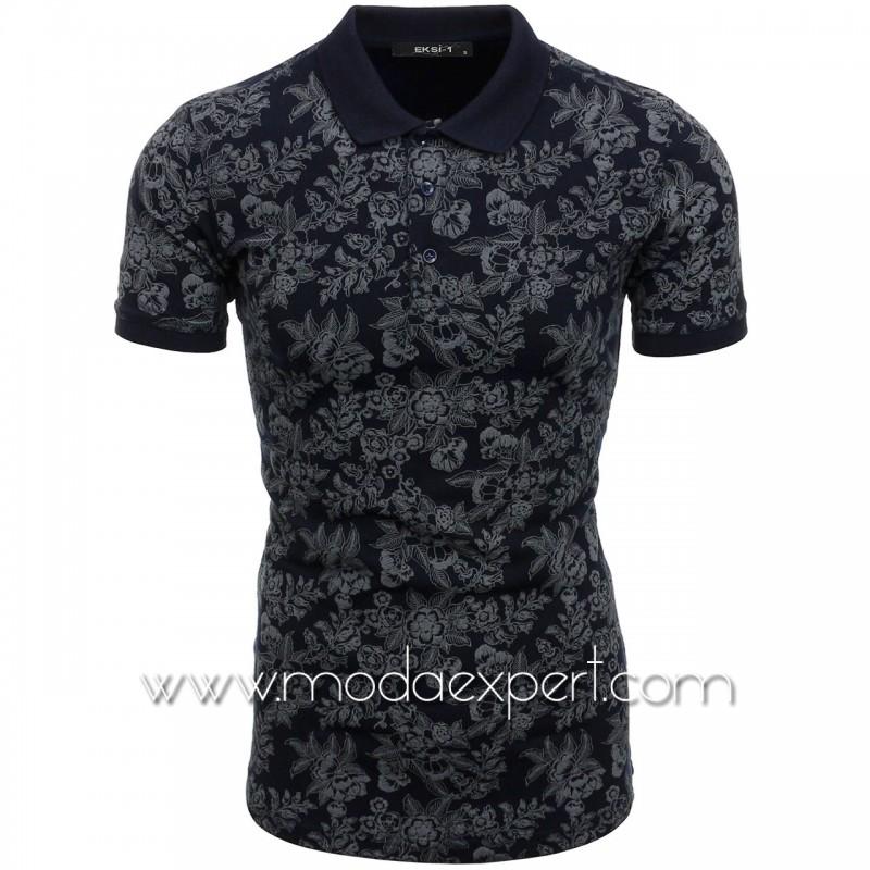 Мъжка тениска с релефна щампа №E052-S