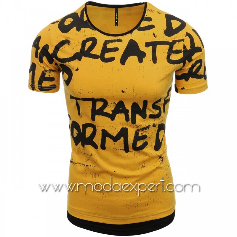 Мъжка тениска с щампи №E080-M