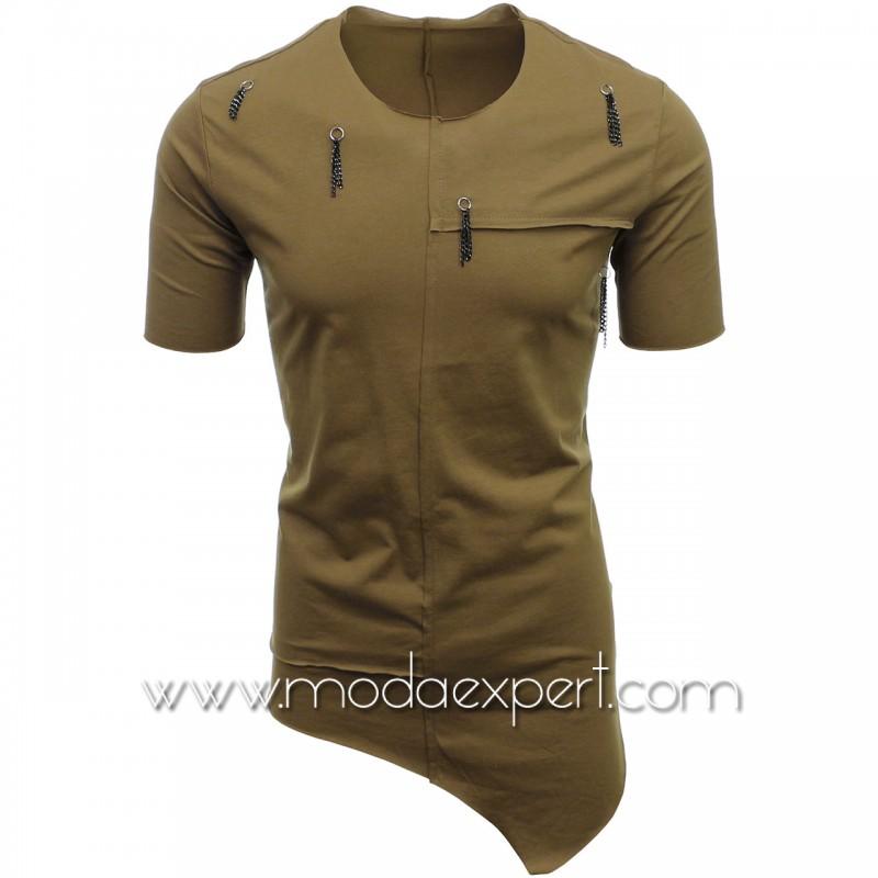 Асиметрична мъжка тениска №E115-K