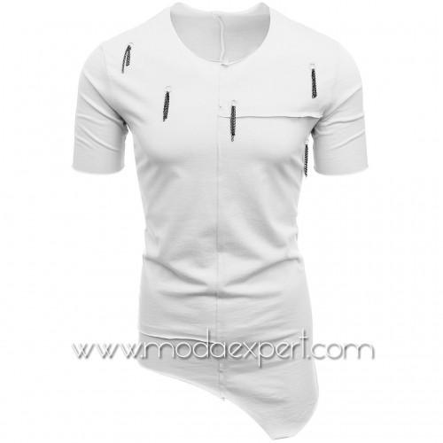 Асиметрична мъжка тениска №E115-W