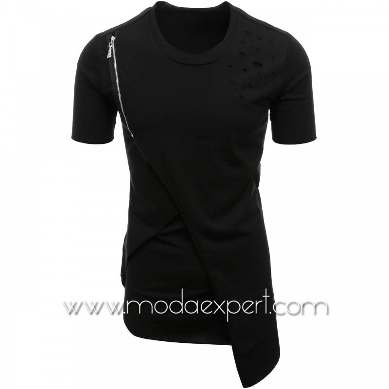 Асиметрична мъжка тениска №E128-B