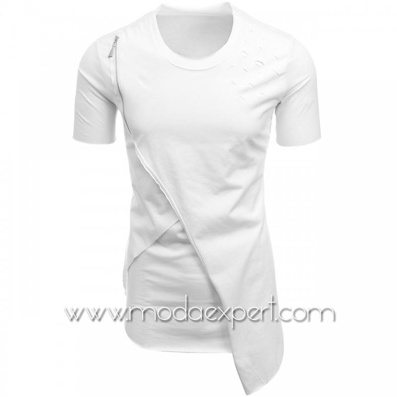 Асиметрична мъжка тениска №E128-W