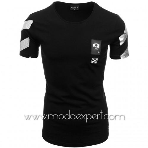 Мъжка тениска с щампа на гърба №E165-B
