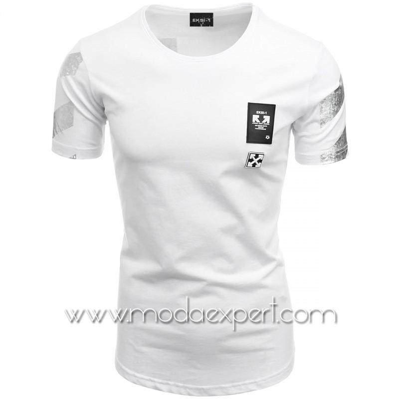 Мъжка тениска с щампа на гърба №E165-W