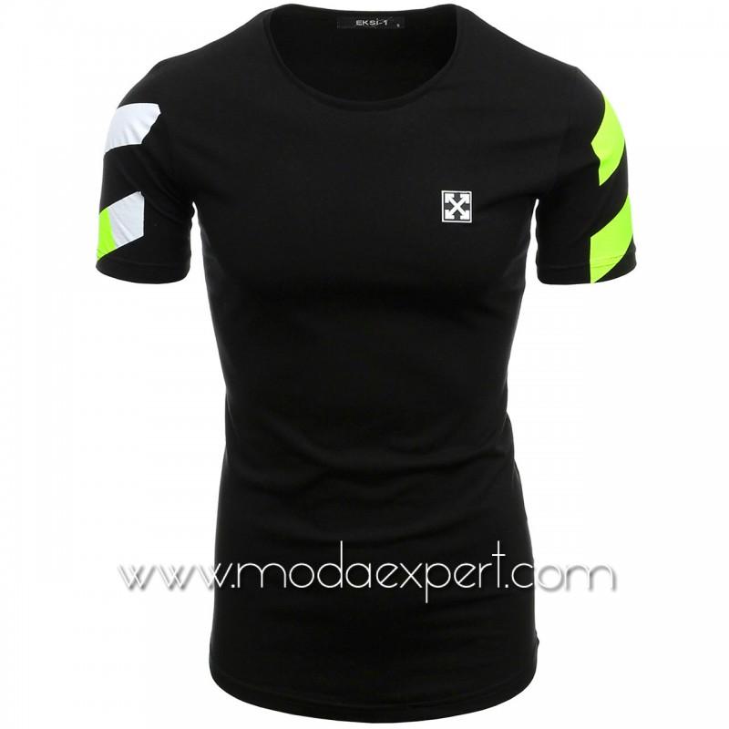 Мъжка тениска с щампа на гърба №E166-B