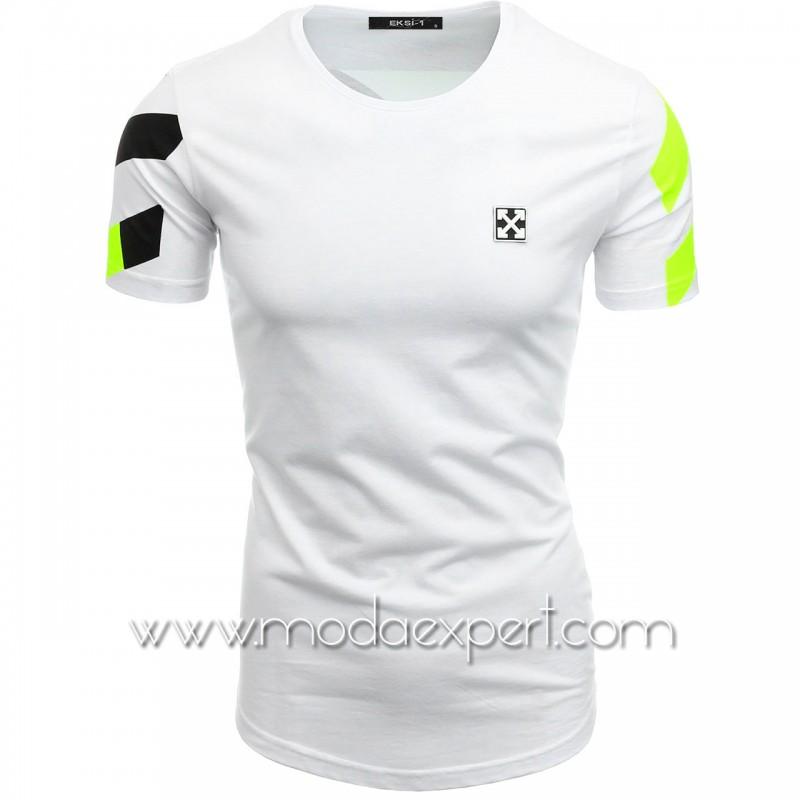 Мъжка тениска с щампа на гърба №E166-W