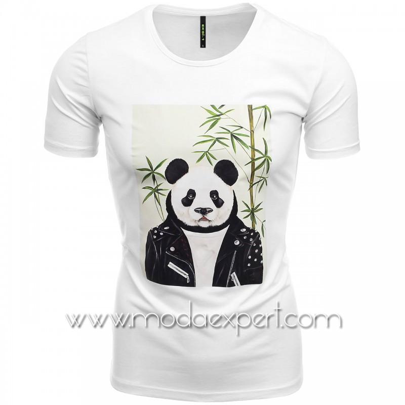 Мъжка тениска Panda №E186-W
