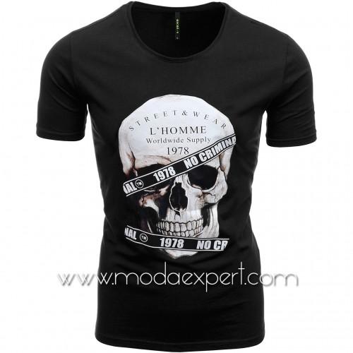 Мъжка тениска с щампа №E187-B