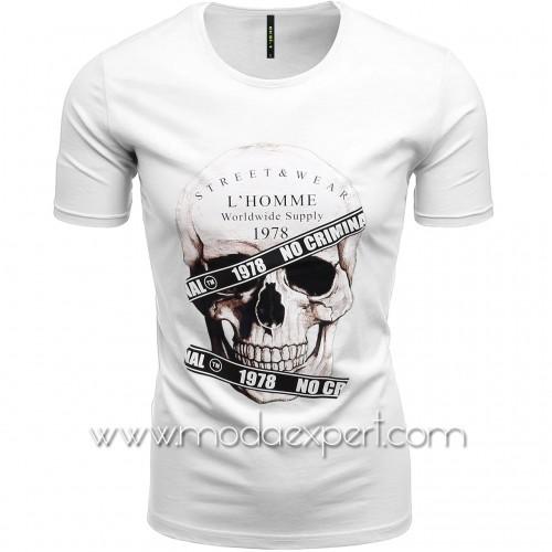 Мъжка тениска с щампа №E187-W