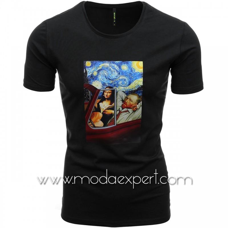 Мъжка тениска с щампа №E196-B