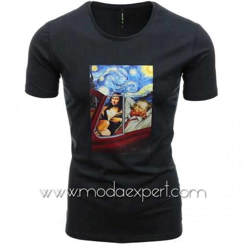 Мъжка тениска с щампа №E196-G